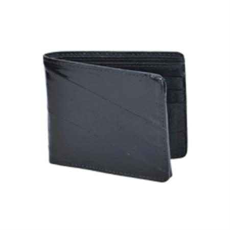 Wild West Boots Wallet Black Genuine Exotic Eel Skin