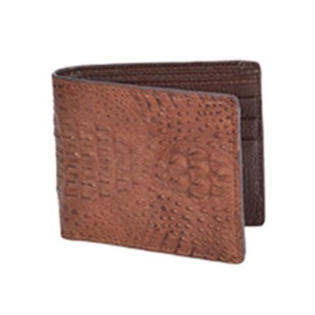 Wild West Boots Wallet Brown Genuine Exotic Caiman