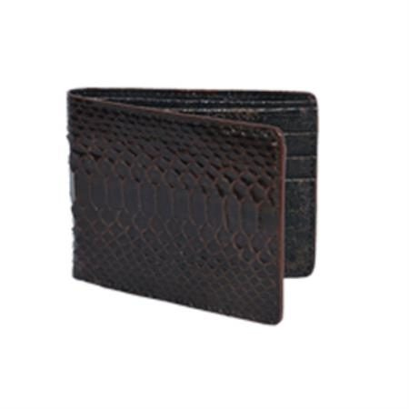 Wild West Boots Wallet Brown Genuine Exotic Python Snakeskin 100