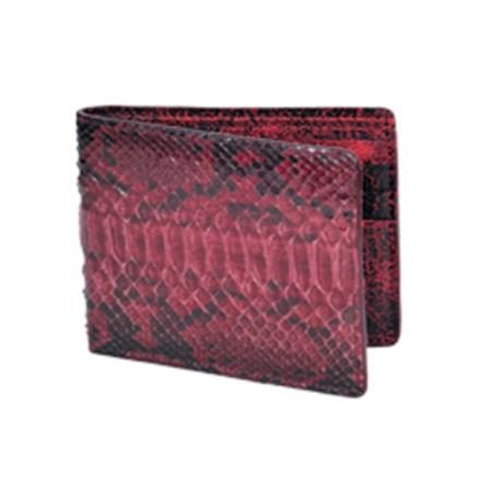 Wild West Boots Wallet Burgundy Genuine Exotic Python Snakeskin 100