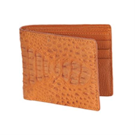Wild West Boots Wallet Cognac Genuine Exotic Caiman
