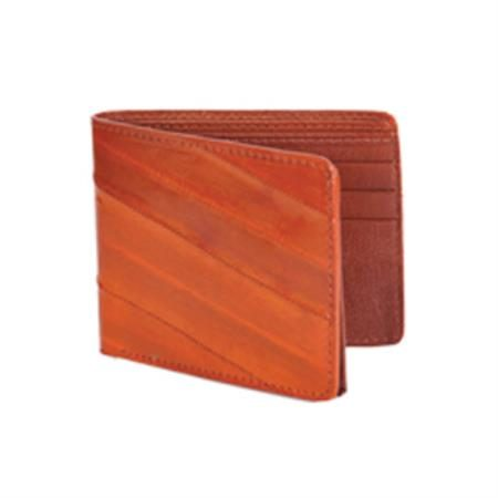 Wild West Boots Wallet Cognac Genuine Exotic Eel Skin