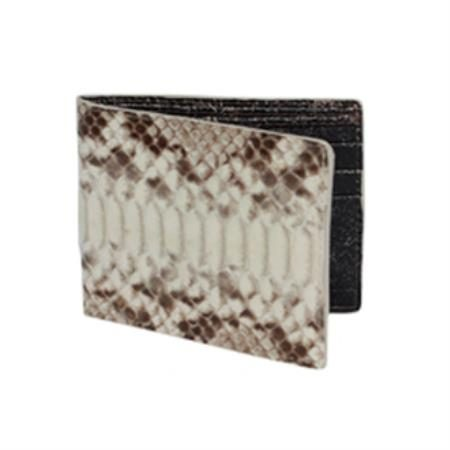Wild West Boots Wallet Natural Genuine Exotic Python Snakeskin 100