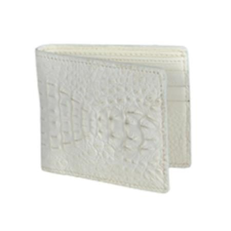 Wild West Boots Wallet Winter white Genuine Exotic Caiman
