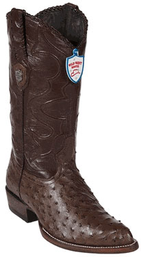 Wild West Brown Full Quill Ostrich Cowboy Boots 517