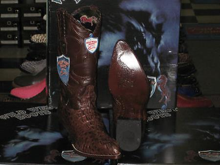 Wild West Brown Genuine Crocodile Western Cowboy Boot (D)