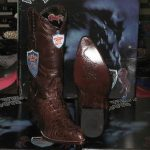 Wild West Brown Genuine Crocodile Western Cowboy Boot (EE)