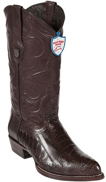 Wild West Brown Ostrich Leg Cowboy Boots 317