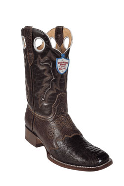 Wild West Brown Ostrich Leg Wild Rodeo Toe Boots 277