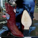 Wild West Burgundy Genuine Crocodile Western Cowboy Boot (EE)
