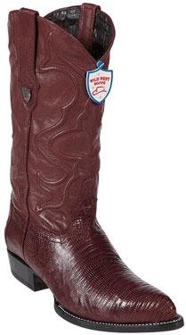Wild West Burgundy Teju Lizard Cowboy Boots 297