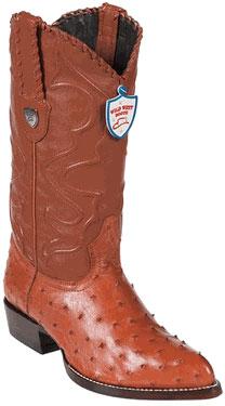 Wild West Cognac Full Quill Ostrich Cowboy Boots 517