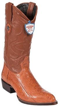 Wild West Cognac Ostrich Leg Cowboy Boots 317