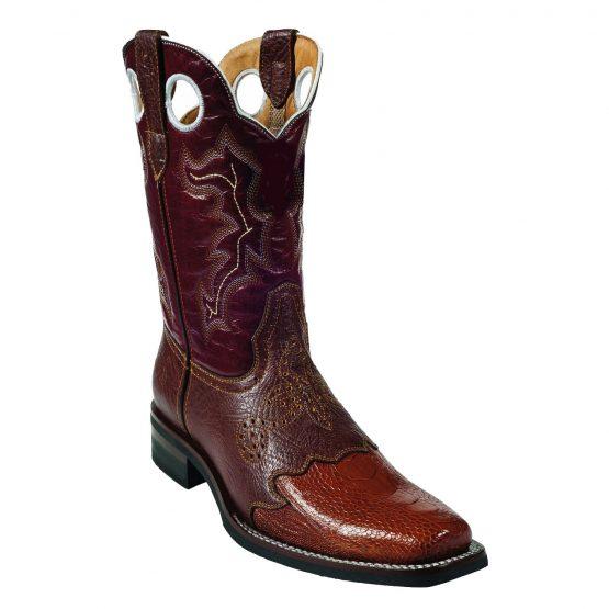 Wild West Cognac Ostrich Wild Rodeo Toe Boots 337
