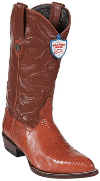 Wild West Cognac Teju Lizard Cowboy Boots 297