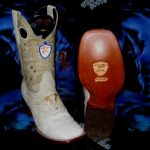 Wild West Genuine Ostrich Square White Rodeo Western Cowboy Boot