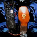 Wild West Genuine Python Snake Square Black Rodeo Western Cowboy Boot