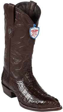 Wild West JToe Brown Caiman TaCowboy Boots 457
