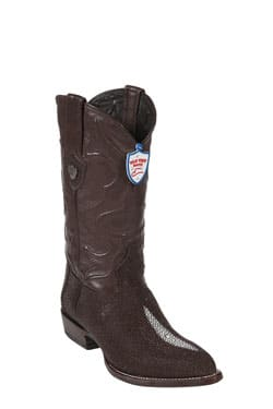 Wild West JToe Brown Single Stone Cowboy Boots 417