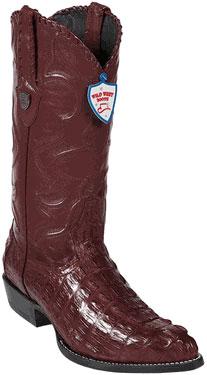 Wild West JToe Burgundy Caiman TaCowboy Boots 457