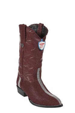 Wild West JToe Burgundy Rowstone Finish Boots 457