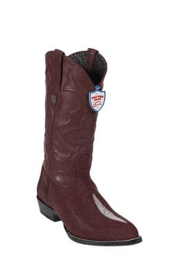 Wild West JToe Burgundy Single Stone Cowboy Boots 417