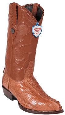 Wild West JToe Cognac Caiman TaCowboy Boots 457