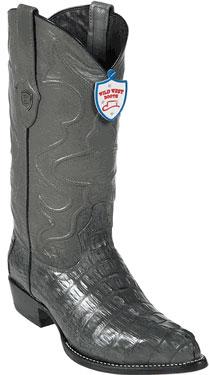 Wild West JToe Grey Caiman TaCowboy Boots 457