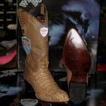 Wild West Mink Genuine Crocodile Western Cowboy Boot (EE)