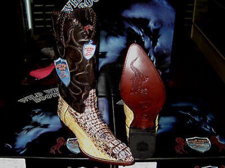 Wild West Natural Genuine Crocodile Western Cowboy Boot (D)