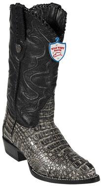 Wild West Rustic Black JToe Caiman Hornback Cowboy Boots 457