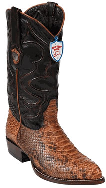 Wild West Rustic Honey Python Boots 287