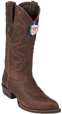 Wild West Walnut JToe Leather Cowboy Boots 217