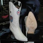 Wild West White Genuine Crocodile Western Cowboy Boot (D)