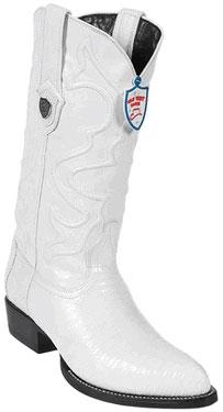 Wild West White Teju Lizard Cowboy Boots 297