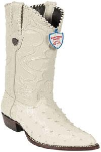 Wild West Winterwhite Full Quill Ostrich Cowboy Boots 517