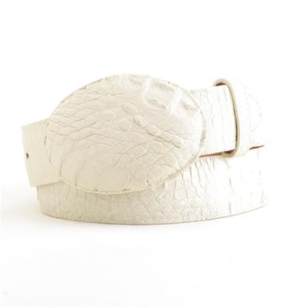 Winterwhite caiman belt