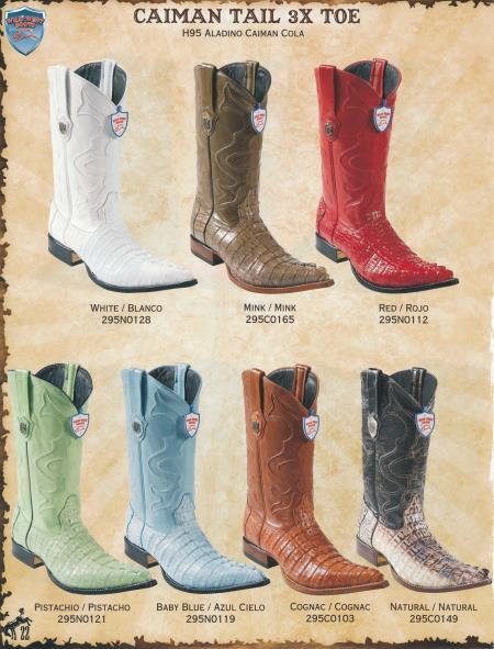 XXXToe Caiman TaMens Cowboy Western Boots Diff.Colors/Sizes