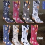XXXToe Denim w/ Patches Mens Western Cowboy Boots Diff. Colors/Sizes