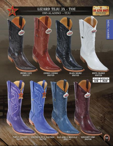 XXXToe Genuine Lizard Teju Mens Western Cowboy Boot Diff.Colors/Sizes