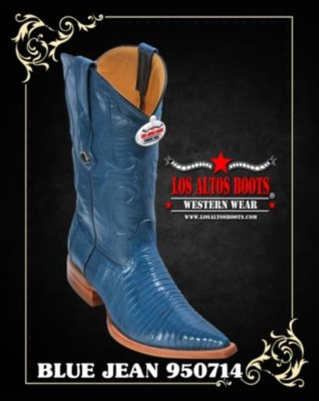 XXXToe Lizard Teju Mens Cowboy Boots by Los Altos
