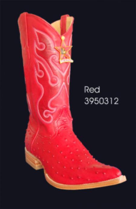XXXToe Printed Ostrich Mens Cowboy Boots by Los Altos 15