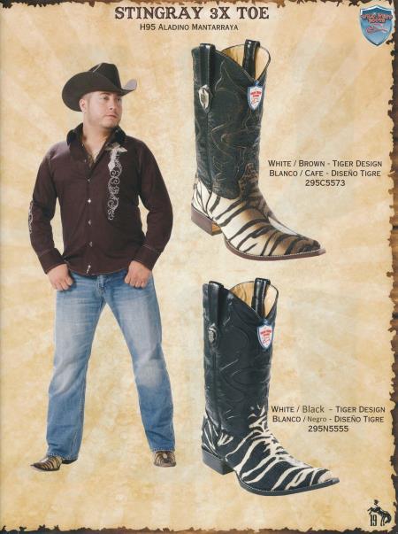 XXXToe Stingray Mens Cowboy Western Boots Diff. Colors/Sizes